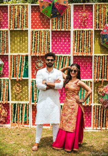 DIY mehendi outfit kurta with lehenga