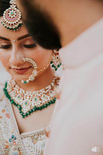 A gorgeous bridal nath