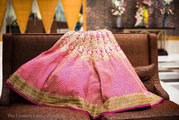 Photo of Bright pink bridal lehenga by frontier bazar
