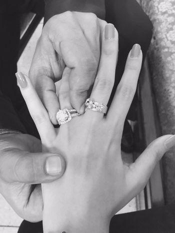 Photo of ascher cut engagement ring