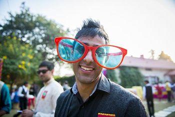 Photo of oversized sunglasses for mehendi