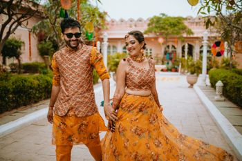 Bright mehndi outfit ideas