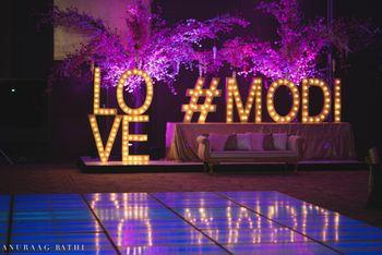 Wedding hashtag display idea