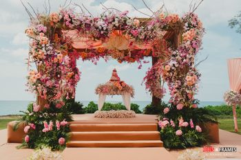 Photo of Gorgeous mandap setup for anand karaj