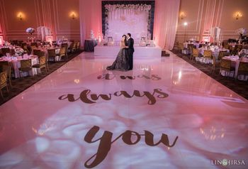 Unique printed dance floor for reception