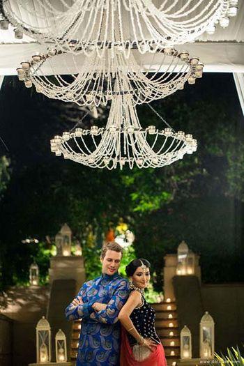 Light Blue Wedding Photoshoot & Poses Photo