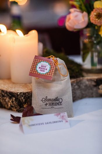 Photo of Bags of tea given as wedding favors