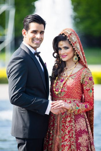 Muslim Bride and Groom Couple Portrait