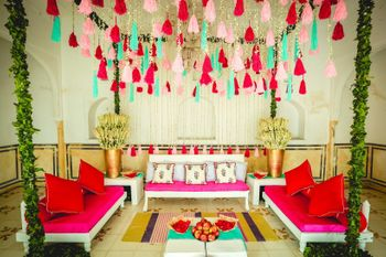 Tassel decor at a day mehendi ceremony