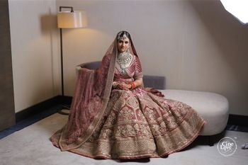 Photo of turkish pink offbeat bridal lehenga
