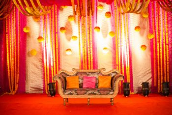 Photo of mehendi sangeet stage decor