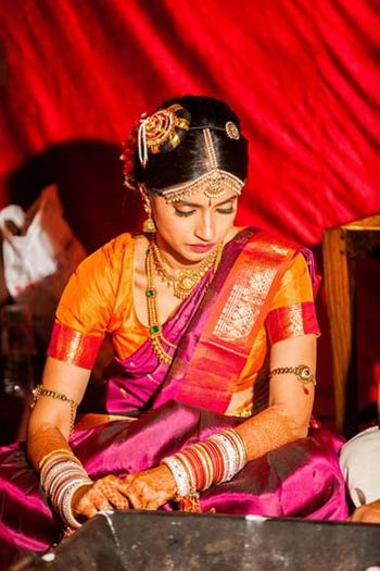 south indian bride  saaree