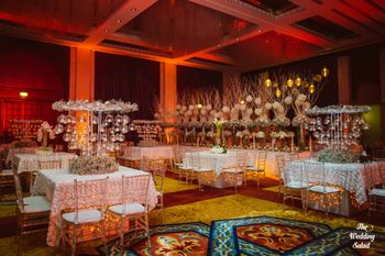 Photo of large table centerpieces