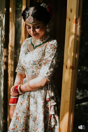 A stunning bridal portrait before the final touches