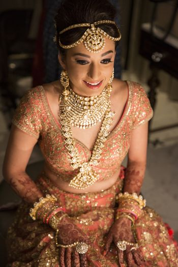 Unique layered bridal jewellery with rani haar