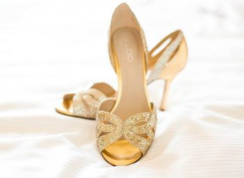 Photo of gold shoes from Aldo