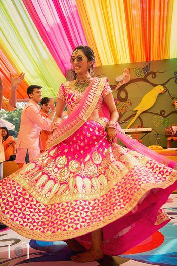 Photo of pink gota patti lehenga