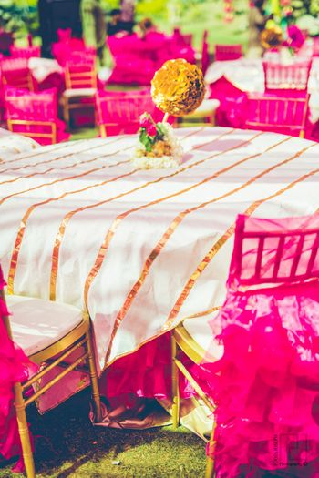 Gota table cover with pink theme