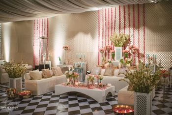Photo of soft pink and baby blue decor
