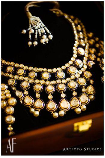 Double string polki necklace