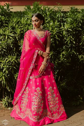 Stunning pink bridal lehenga