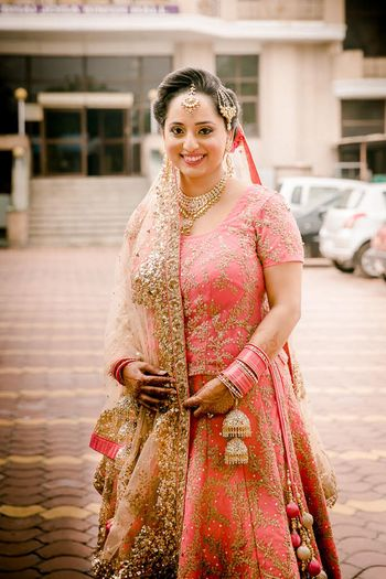 Photo of Pink bridal anarkali for sikh wedding