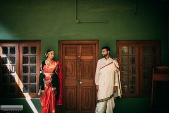 A south Indian couple on their wedding day