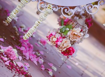 Photo of floral birdcage