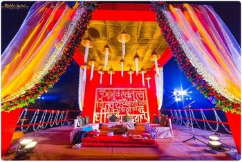 Photo of mandap backdrop