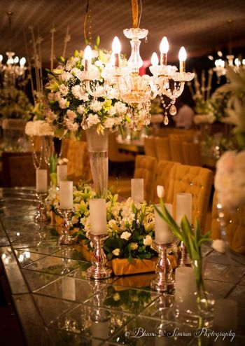 Photo of Table setting with flowers