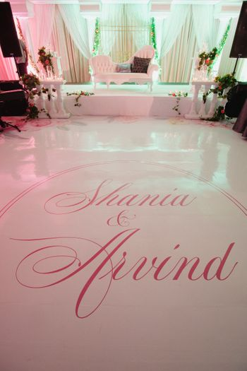 Photo of Unique personalised dance floor with names