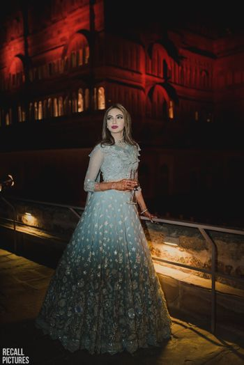Light blue sangeet or cocktail gown