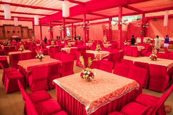 Photo of red wedding decor