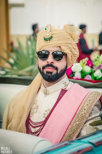 Groom in sunnies and matching safa