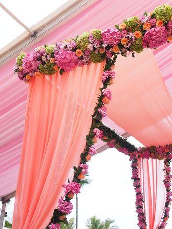 floral mandap