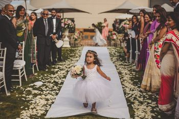 Photo of Flower girl at Indian wedding