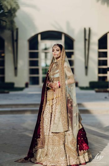 Photo of Pastel bridal lehenga