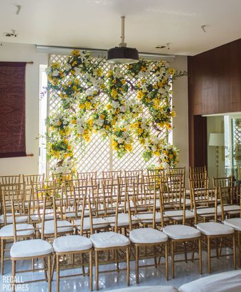 An easy, floral decor for a roka function at home