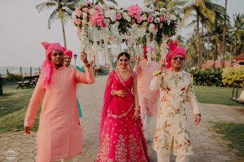 Fresh bridal entry ideas