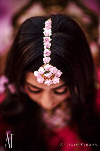 Photo of Trending mehendi jewellery floral maangtikka