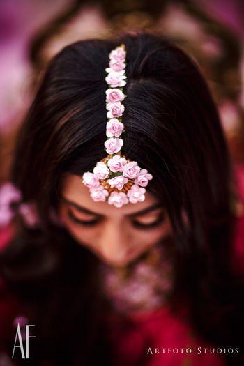 Trending mehendi jewellery floral maangtikka