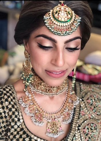 Unique bridal jewellery with antique finish