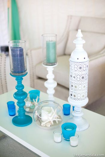 Photo of Candle table centerpieces