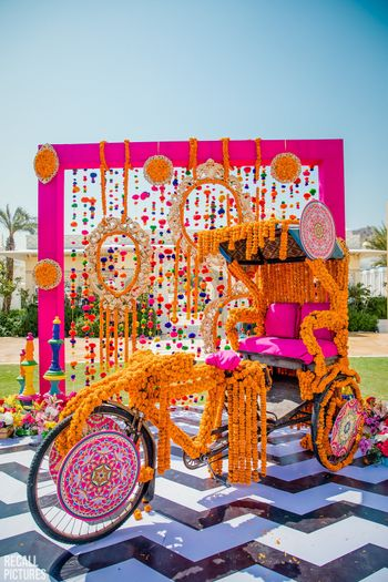 Photo of Decorated rickshaw photobooth for the mehendi