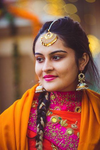 Sikh bride bridal portrait