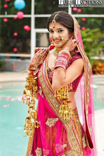 Bright Pink Bridal Lehenga Photo