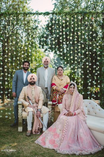 Photo of Family portrait at Indian wedding