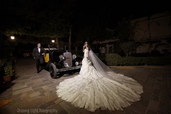 Christian Wedding Gown with Massive Train