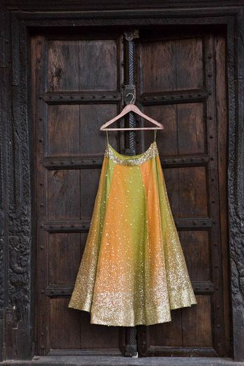 Photo of shimmery light weight summer lehenga