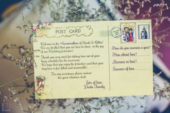 Photo of Destination wedding idea with postcard itinerary